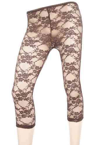 "Ladies Leggings with lace ""Rose"" (Grey)"