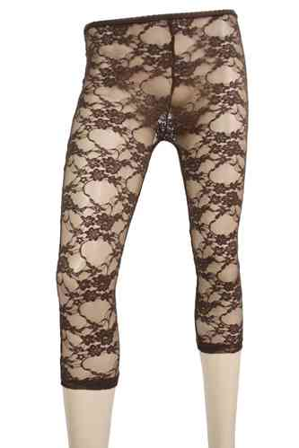 "Ladies Leggings with lace ""Rose"" (Chocolate)"