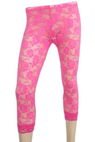 "Ladies Leggings with lace ""Rose"" (Fuchsia)"