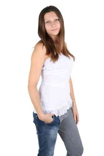 "Ladies Tulle Shirt ""Nele"" (White)"