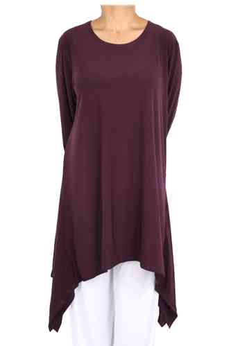 "chokri Big Size Ladies Shirt ""Salvador"" (Dark purple)"