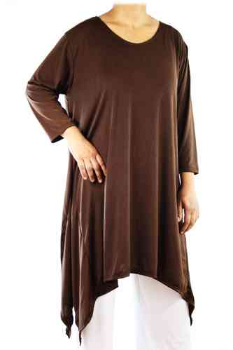 "chokri Big Size Ladies Shirt ""Salvador"" (Chocolate)"