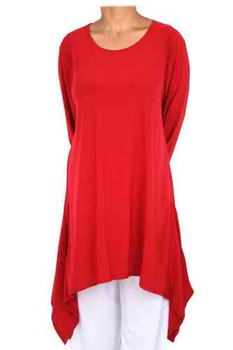 "chokri Big Size Ladies Shirt ""Salvador"" (Red)"