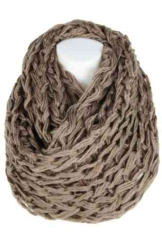 "Ladies Loop Scarf ""Caprinae"" (Silt)"