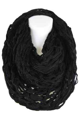 "Ladies Loop Scarf ""Caprinae"" (Black)"