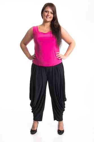 chokri Big Size Ladies Harem Pants (Black) (48-60)