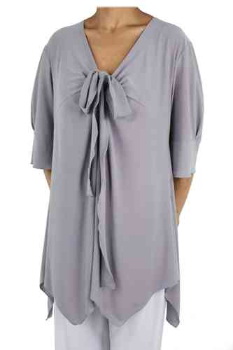 "chokri Big Size Ladies Tunic ""Elisa"" (Grey)"