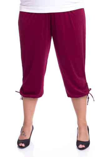 "chokri Big Size Ladies Pants ""Riana"" (Bordeaux)"