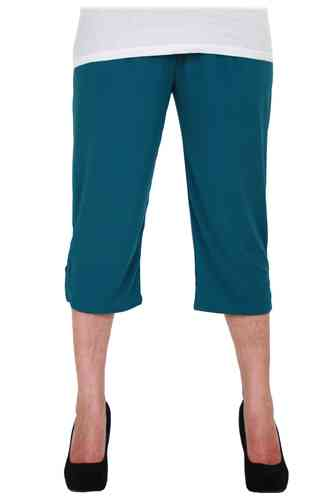 chokri Big Size Ladies Capri Leggings (Petrol) (48-60)