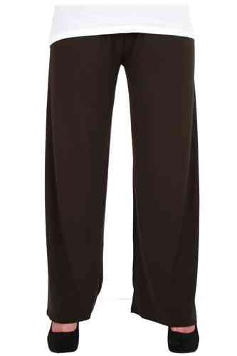 chokri Big Size Ladies Marlene Pants (Chocolate) (50-58)