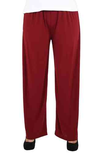 chokri Big Size Ladies Marlene Pants (Bordeaux) (50-60)