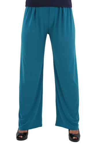 chokri Big Size Ladies Marlene Pants (Petrol) (52-60)
